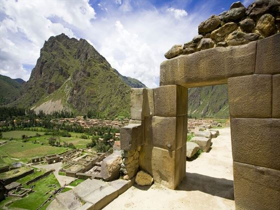 Incan ruins at Ollantaytambo