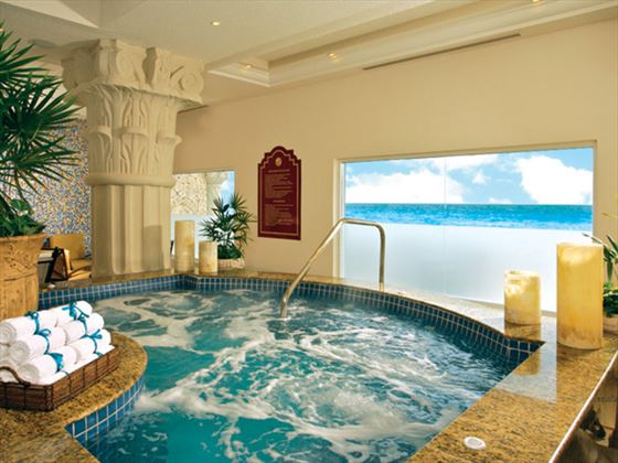 Indoor Jacuzzi pool at The Royal Cancun