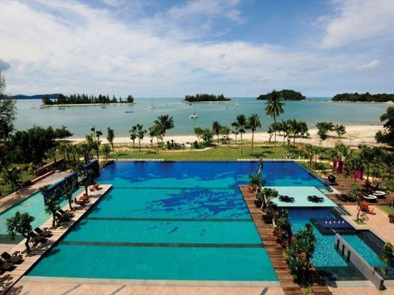Infinity pools at The Danna Langkawi