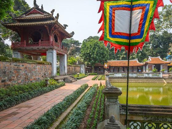 Inside the Temple of Literature Gardens, Hanoi