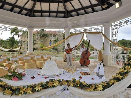 Inside the Princesa Del Mar wedding gazebo