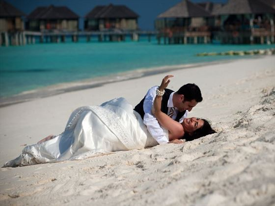 Beach romance at The Sun Siyam Iru Fushi