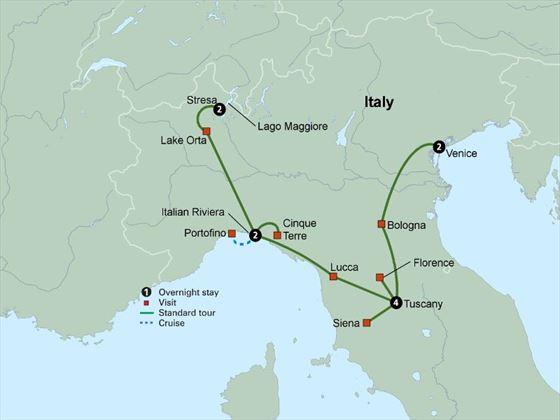 Italy's Treasures itinerary