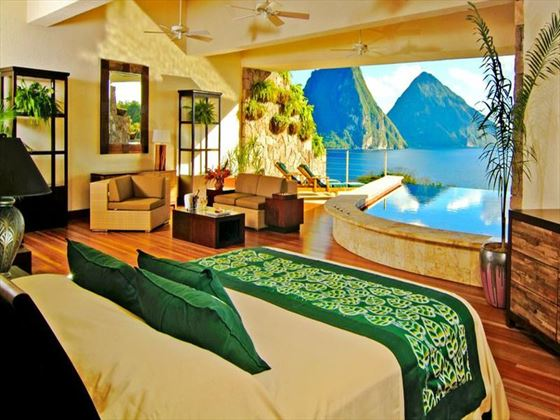 Jade Mountain Infinity Pool Sanctuary Room