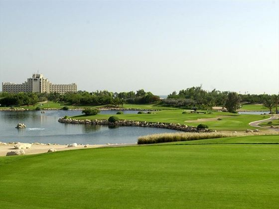 JA Jebel Ali Beach Hotel exterior and golf course