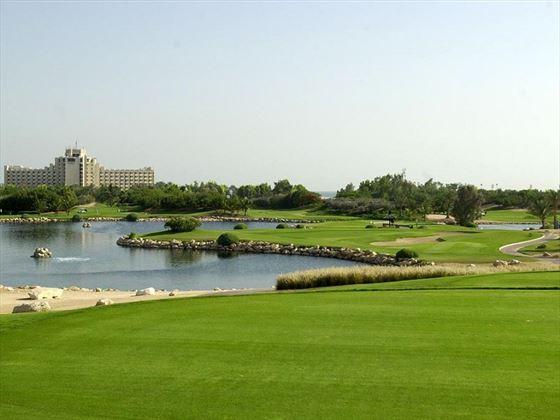 JA Jebel Ali Beach Hotel exterior and golf course