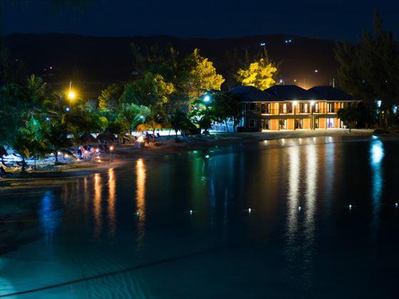 The spa at night