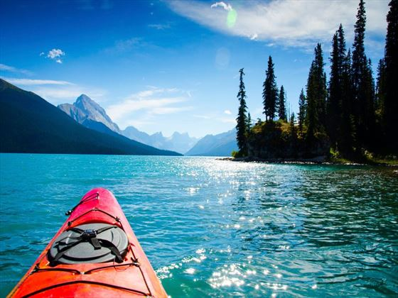 Kayaking in the Rocky Mountains
