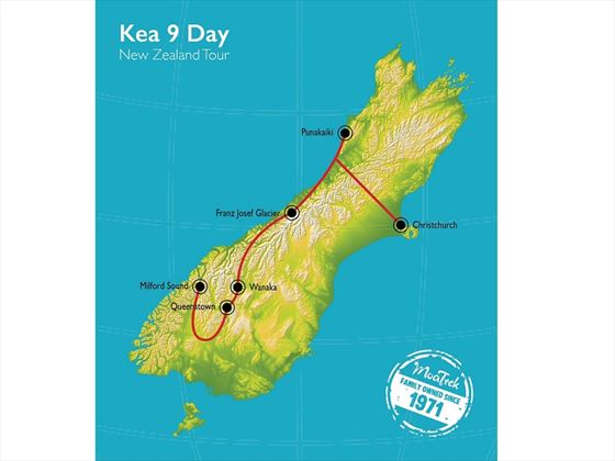 South Island Kea map