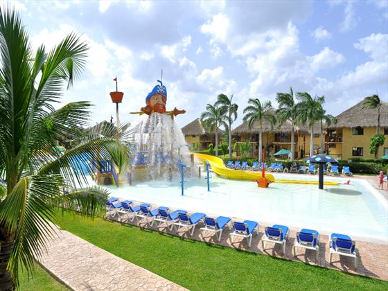 Kids water park area at Allegro Cozumel
