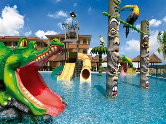 Kids water park area at Moon Palace Resort
