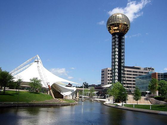 Sunsphere at World's Fair Park, Knoxville, Tennessee