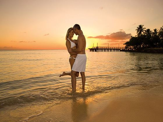 Couples can enjoy romantic sunsets on the beach.