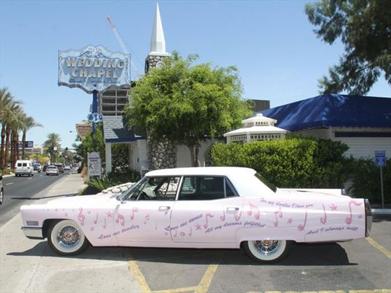 Elvis' favorite car, a Cotton Candy pink, 1967 Cadillac