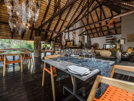 Little Bush Camp bar and dining area