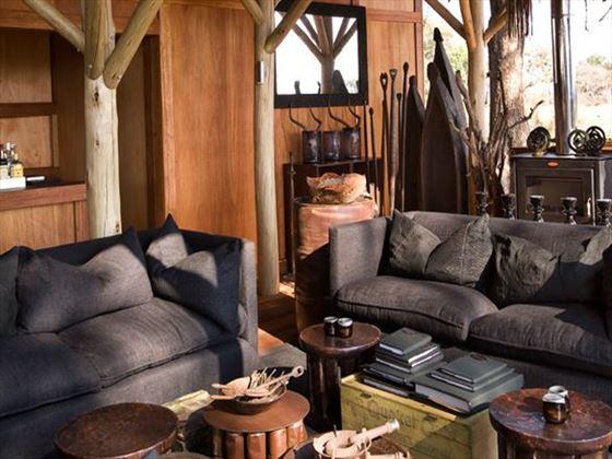 Living area at Xudum Delta Lodge