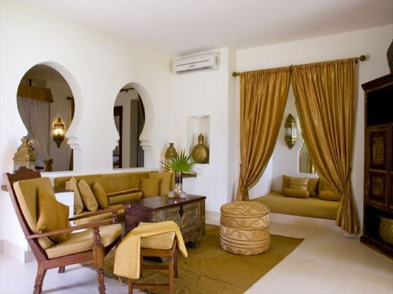 Living room at Baraza Resort & Spa