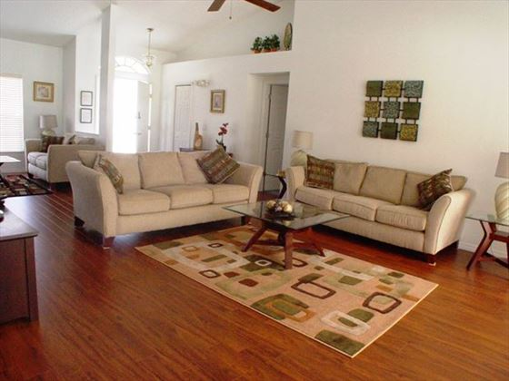 Living room at New Port Richey Homes