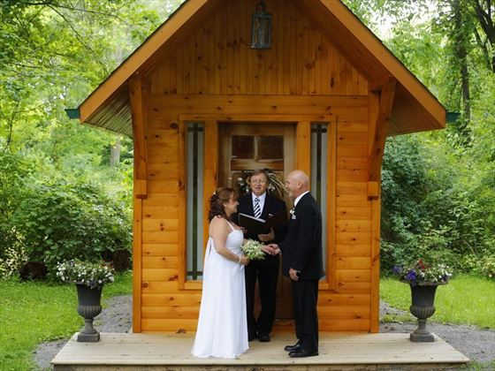 Ceremonies at the Log Cabin