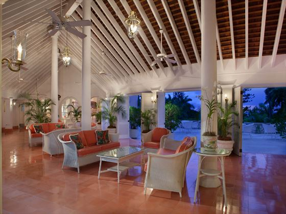 Lobby seating area at Couples Sans Souci