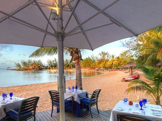 Beachside dining at Abelone Restaurant