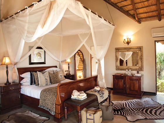 Luxury Suite bedroom at Kings Camp