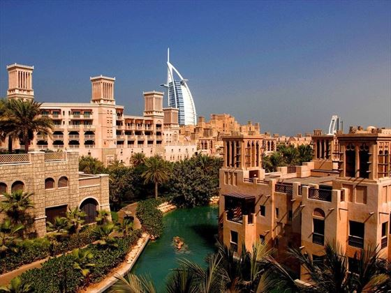 Jumeirah Al Qasr exterior with Burj Al Arab view