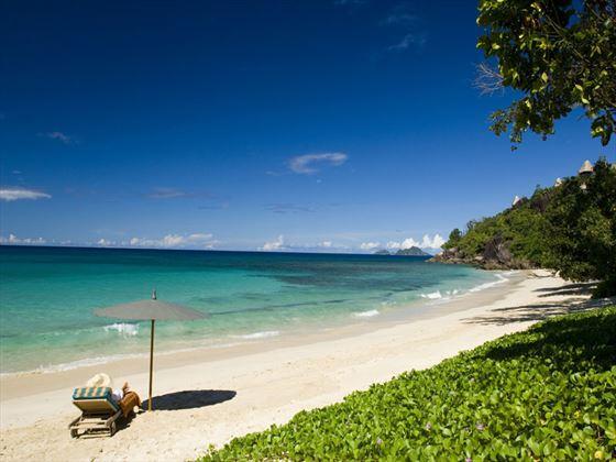 The beach at Maia Luxury Resort