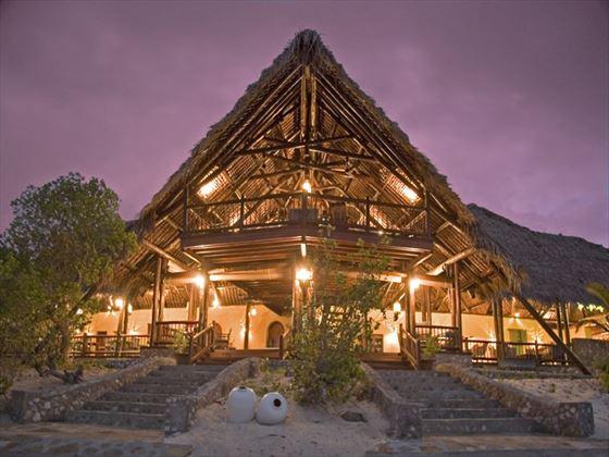 Main lodge at Medjumbe Private Island