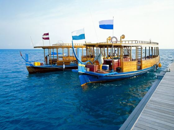 Maldivian diving boat