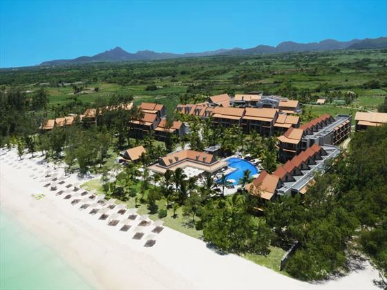 Aerial view of Maritim Crystals Beach Hotel
