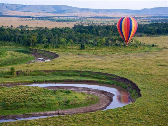 Hot Air Balloon over Masai Mara National Park