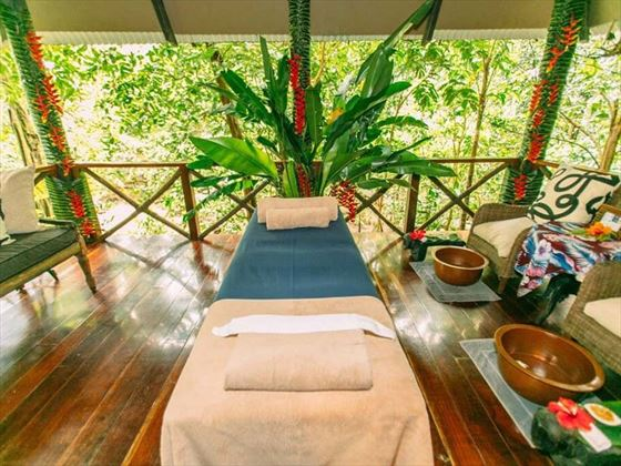 Massage table at Qamea Resort & Spa