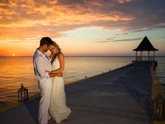 Enjoy romantic sunsets