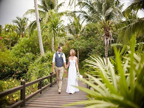 Bride & Groom at the Melati Beach Resort & Spa