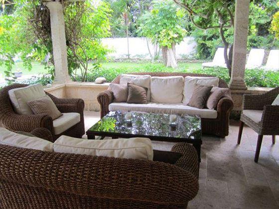 The comfortable veranda