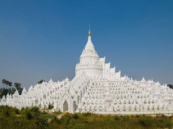 Mingun white pagodas