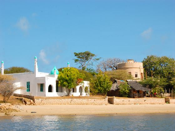 Mosque on the beach in Lamu