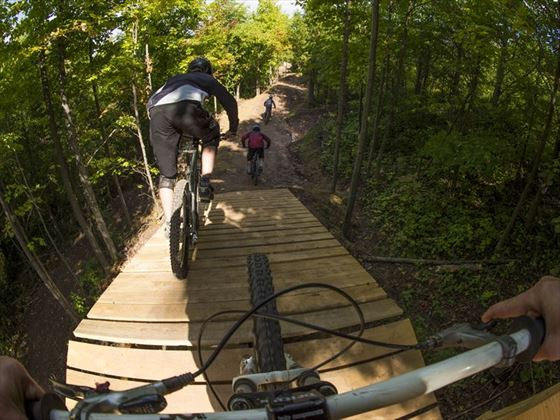 Mountain biking in the Blue Mountains, Ontario