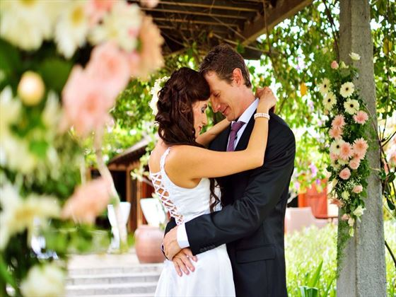 The Secret Garden wedding setting