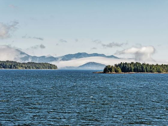 The Inside Passage between mainland BC and Vancouver Island
