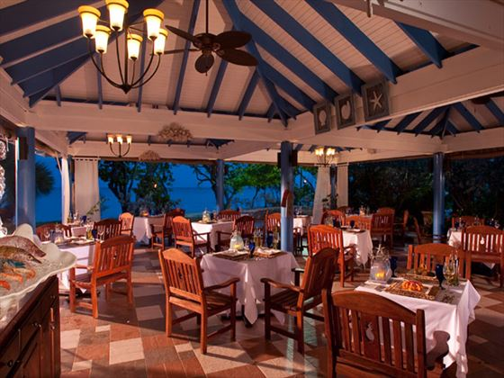 Neptune's restaurant at Sandals South Coast