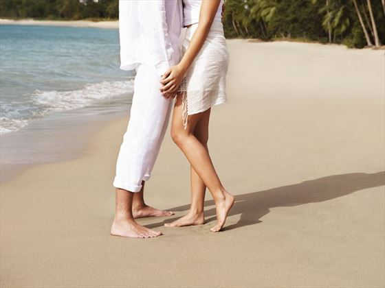 Romance on the beach at Rendezvous