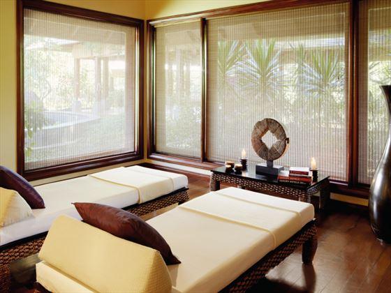 Nira Spa treatment room at Shanti Maurice A Nira  Resort