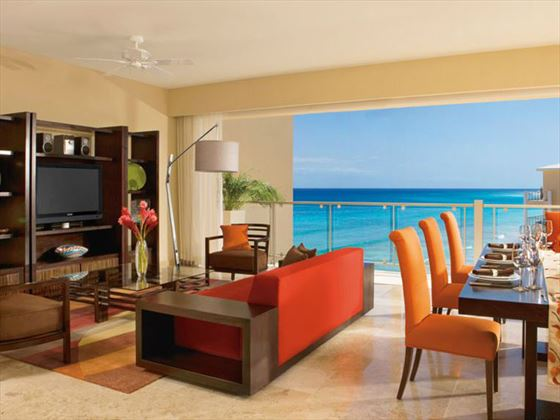 Now Jade Riviera Cancun living room