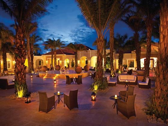 Now Larimar Punta Cana Resort plaza at night