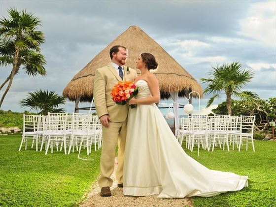 Occidental at Xcaret Destination Resort Bride & Groom