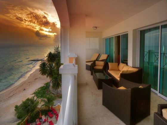 Ocean Two Resort & Residences Two-bedroom Penthouse balcony