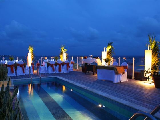 Rooftop wedding reception