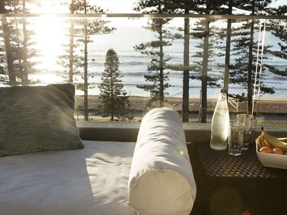 Ocean View balcony at Novotel Sydney Manly Pacific